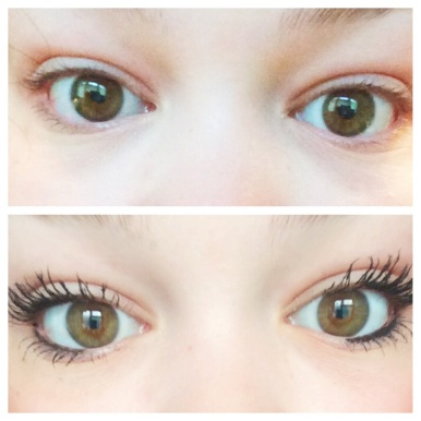 Top: Natural Bottom: 3D Fibre Lash